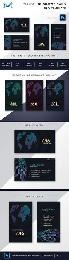 Global Business card Template by MagicalPanel | GraphicRiver