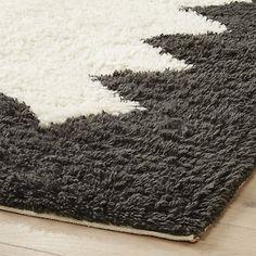 inside out shag rug | CB2