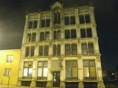 """Bissman Building, Ohio: The current Bissman Building was contructed in 1886 and was originally a wholesale grocery distributor. Two of the ghosts that reportably haunt the Bissman, are """"Ruthie"""", an 8 year girl who was brutally murdered inside the building and F.W. Simon, a former employee who was decapitated in an elevator accident in 1911."""