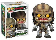 Cabezon Aliens vs Predator. Ojos amarillos. Depredador, Funko POP Movies, 9cm Cabezón del personaje de Predator, creado por Funko para su colección POP Movie.