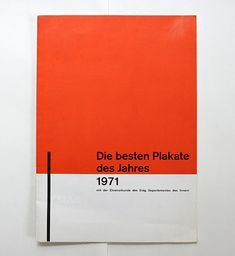 richard paul lohse/ 1972//this leaflet presents the winners of the best post poster of the year 1971 competition.