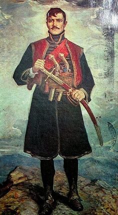 Djordje Petrovic – Karadjordje – Black George – hero of Serbian indipendece againts Turks – leader of the First Serbian Uprising (1804-1813) as part of Serbian Revolution (1804-1835) – first national revolution in Europe. – Paja Jovanovic.