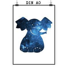 Poster DIN A0 Elefant sitzend aus Papier 160 Gramm  weiß - Das Original von Mr. & Mrs. Panda.  Jedes wunderschöne Motiv auf unseren Postern aus dem Hause Mr. & Mrs. Panda wird mit viel Liebe von Mrs. Panda handgezeichnet und entworfen.  Unsere Poster werden mit sehr hochwertigen Tinten gedruckt und sind 40 Jahre UV-Lichtbeständig und auch für Kinderzimmer absolut unbedenklich. Dein Poster wird sicher verpackt per Post geliefert.    Über unser Motiv Elefant sitzend  Dickhäuter kommen neben…