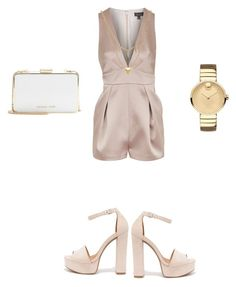 """#love silk #fashionable"" by ambervin ❤ liked on Polyvore featuring Topshop, Movado, Chinese Laundry, MICHAEL Michael Kors and Edge of Ember"