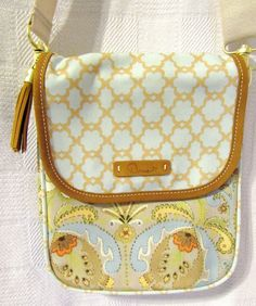 Dena Designs Cream Paisley Kumari Small Hipster Canvas & Leather Hipster Bag #DenaDesigns #Hipster