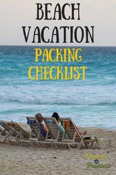 Beach Packing List -