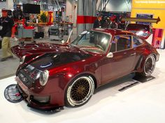 The Custom Shop shook up the 2015 SEMA Show with another controversial build. This '70 Porsche 930 was widened 6 inches in the rear & 4 inches in the front, received a 534HP LS3 engine swap, and rides on Continental Tires wrapped around Forgeline Heritage Series LS3 wheels finished with Satin Bronze centers & Polished outers. See more at: http://www.forgeline.com/customer_gallery_view.php?cvk=1561  #Forgeline #LS3 #notjustanotherprettywheel #madeinUSA #Porsche #SEMA2015