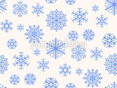 Snowflakes In Paradise Seamless Pattern Vector Pattern, Pattern Design, Surface Design, Snowflakes, Paradise, Quilts, Patterns, Winter, Block Prints