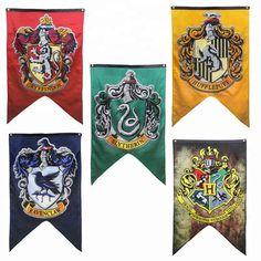 Details about uk harry potter banner flag gryffindor slytherin ravenclaw house hogwarts school