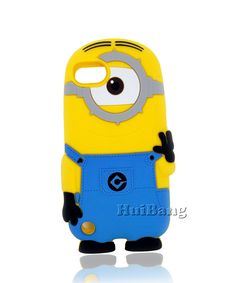 Original Brand 3D Cute Anime Cartoon Despicable Me Minions Mobile Phone Rubber Cases Cover For Ipod Touch 5 5G 5th Protector $5.99