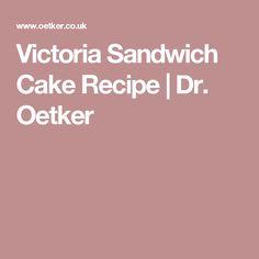 Victoria Sandwich Cake Recipe | Dr. Oetker