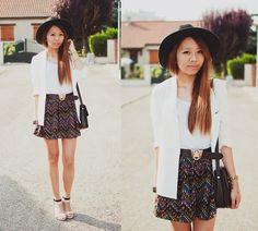Boyfriend Blazer, Skirt, Sandals
