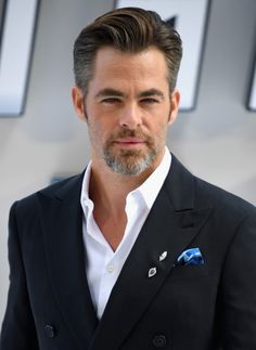 """Chris Pine - He's only 3 years older than me (he's about 36) and he's already on my """"Silver Fox"""" list?"""