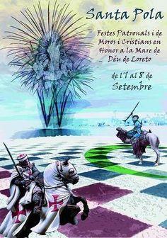 Fiestas de Moros y Cristianos en Santa Pola hasta el 8 de Septiembre de 2013.  http://www.ilovecostablanca.com/es/eventos/ficha/375