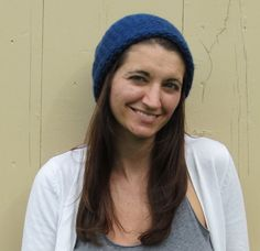 Dark Blue Knitted Loops and Threads Cozy Wool Hat by ArtTx on Etsy, $15.00