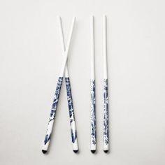 Blue Ceramic Chopsticks, Set of 2   World Market