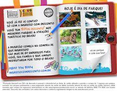 Ingressos dos Melhores Parques & Atrações Turísticas do Brasil!