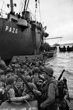 D-Day. I just can't imagine these brave men as they witness the carnage on the beach and still load up to carry out their mission. Bless you