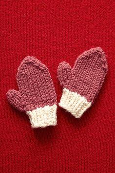 Valentine's Day Mittens - Knitting Pattern by Lion Brand Yarn