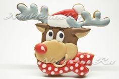 новогоднее печенье олень