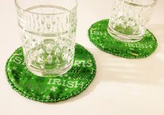 St. Patrick's Day Decorative Green Coasters by LasmasCreations, $8.00