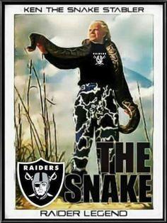 Ken The Snake Stabler - RAIDER IN PEACE