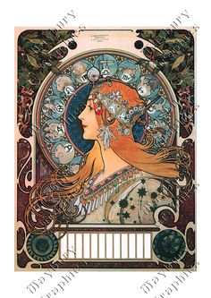 Zodiaque, 1896. Stunning colors in this version!
