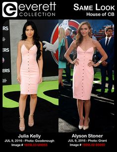Julia Kelly (wearing a House of CB dress) at arrivals for GHOSTBUSTERS Premiere, TCL Chinese 6 Theatres (formerly Grauman's), Los Angeles, CA July 9, 2016. Photo By: Elizabeth Goodenough/Everett Collection *** Alyson Stoner (wearing a House of CB dress) at arrivals for GHOSTBUSTERS Premiere, TCL Chinese 6 Theatres (formerly Grauman's), Los Angeles, CA July 9, 2016. Photo By: Priscilla Grant/Everett Collection