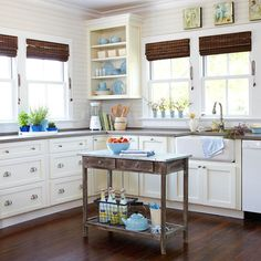 A cottage kitchen is