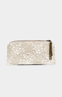 Lace and Linen clutch bridesmaid purses