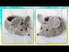 Newspaper Paper, Newspaper Crafts, Straw Crafts, Diy And Crafts, Arts And Crafts, Willow Weaving, Clay Wall Art, Paper Weaving, Paper Straws