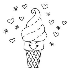 Ice Cream Coloring Pages . 29 Best Of Ice Cream Coloring Pages . Ice Cream Coloring Page Ice Cream Coloring Pages, Food Coloring Pages, Truck Coloring Pages, Free Coloring Sheets, Coloring Pages To Print, Printable Coloring Pages, Coloring Pages For Kids, Embroidery Patterns Free, Hand Embroidery Designs