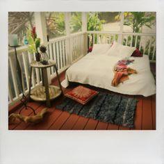 relaxing boho back porch room