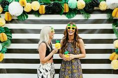 Planning a summer birthday party? Our entertaining experts have 25 summer birthday party ideas. Throw a fun summer bash with these creative birthday party ideas for adults and kids. For more outdoor hosting ideas and summer party themes go to Domino. Flamingo Party, Wedding Fotos, Hawaian Party, Aloha Party, Boho Vintage, A Little Party, Party Decoration, Decorations, Summer Birthday