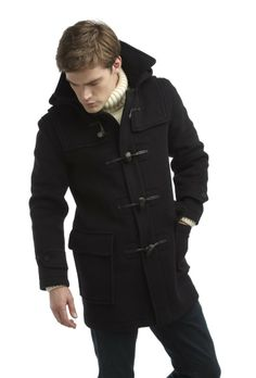 Mens London Duffle Coat -- Navy  Free UK Delivery   Duffle Coats UK