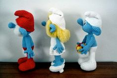 Patrón para tejer a los Pitufos en amigurumi