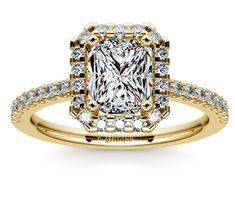Radiant Halo Diamond Engagement Ring in Yellow Gold  http://www.brilliance.com/engagement-rings/halo-diamond-ring-yellow-gold