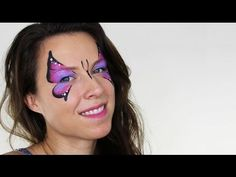 ▶ Basic Butterfly Face Painting Tutorial - YouTube