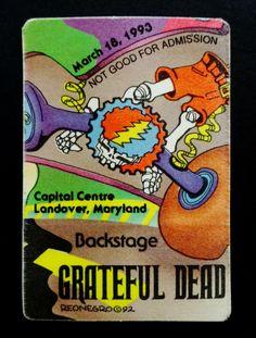 c092e5d1fe3 Grateful Dead Backstage Pass GD Bus Puzzle Piece Cap Centre Maryland  3 18 1993