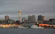 Seattle Skyline. I took those ferrys daily and looked at this view. Its across the bay from my moms house