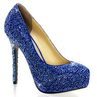 Pleaser Day & Night Sexy Shoes 5 Inch Heel, Concealed Platforms Iridescent Rhinestone-Covered Shoes Pumps - Miss Hollywood - 1 Peep Toe Pumps, High Heel Pumps, Suede Platform Pumps, Pumps Heels, Stiletto Heels, Royal Blue Heels, Blue Suede Pumps, Blue Shoes, Fancy Shoes