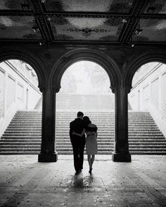 Black and white photos of romance