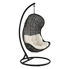 Modway Parlay Swing Outdoor Patio Lounge Chair, Espresso/White at MyHabit