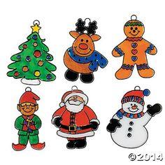 Happy Holidays! Suncatchers - Oriental Trading