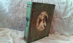 Μεγάλο κουτί βιβλίο decoupage