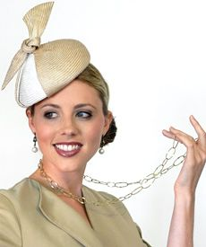 Fashion hat Pussy Galore, designed by Melbourne milliner Louise Macdonald