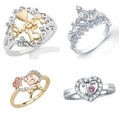 10 Quinceanera Rings That'll Make you Shine Check out the 10 blingiest Quinceanera rings for a special woman who deserves to shine! – See more at: www.c… - My Accessories World 15 Rings, Cute Rings, White Gold Wedding Rings, Gold Diamond Wedding Band, Azul Tiffany, Cute Jewelry, Cheap Jewelry, Jewelry Gifts, Women's Jewelry