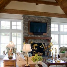 Laurel Highlands - traditional - living room - other metros - Beyond Ordinary Boundaries Architecture