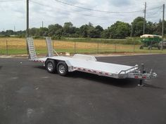 aluma 8220-14k 20 ft 14000# aluminum equipment trailer by aluma