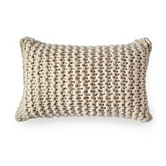 Alicia Adams Links Knit Pillow Cover – Ivory | Serena & Lily